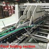 Linha reta máquina ondulada de Gluer do dobrador da caixa (SCM-1600B)