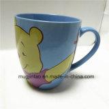 De Kop Winnie Pooh Cartoon Printing Cup van de Thee van het Vaatwerk van de Kop van het Type van Trommel van het porselein