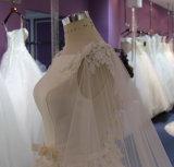 Prinzessin Satin/Tulle-Hochzeits-Kleid mit Applique-Serie