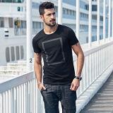 Le T-shirt de mode du plus défunt modèle des hommes neufs d'OEM