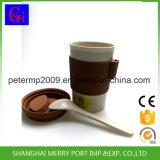 試供品の習慣のシリコーンのふたおよびシリコーンの袖が付いている使用できるムギのファイバーのティーカップ