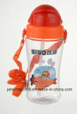 450ml BPA geben große Kind-Sport-Wasser-Flasche mit weichem Stroh, bewegliche Plastikcup frei