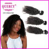 Aaaaaaaa Grad-Menschenhaar 100% rollt Wasser-Wellen-Jungfrau-peruanisches Haar zusammen (curly-038)