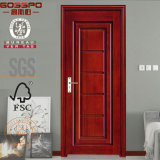 Portello nel portello interno del legname di legno solido del teck di disegno del portello (GSP2-042)