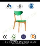 Hzpc134 silla de plástico y de madera Cojín