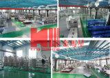 Terminar la planta de relleno de la fábrica de la bebida que enciende las máquinas del proyecto