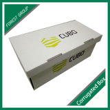 로고 인쇄를 가진 백색 파일 상자 마분지 파일 저장 장소 상자 물결 모양 물자