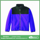 Rapazes Colorblock elegante Micro jaqueta de velo polar