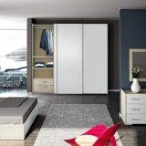 Armário de roupa de madeira de alta qualidade portas deslizantes