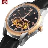 La montre-bracelet des hommes d'acier inoxydable de quartz