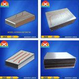 Extrusión de aluminio de tubo de calor eficiente disipador de calor con solución de disipación térmica.