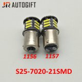 12V/24V blanco estupendo S25 21SMD 7014 7020 bulbos autos del freno LED