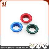 Kundenspezifische einfaches Monocolor Ösen-Metallrunde Taste für Umhüllung
