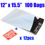 Custom grand PE Plastique blanc T-sac d'emballage Shite Poly Mailers