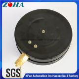 6kg / Cm2 6 polegadas Caixa de aço comercial preto Conector de latão Manómetros gerais com precisão 1,5%