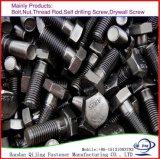 L'acier galvanisé Carbonl/Vis à tête hexagonale en acier inoxydable933/931 DIN M6-M24
