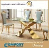 현대 디자인 금 식당 세트