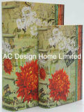 S/2/lienzo el diseño de flores frescas de madera MDF Cuadro de la libreta de almacenamiento de impresión