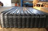 Feuille d'acier galvanisé en carton ondulé, toit de galvalume ondulé