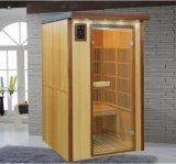 木製の乾燥した蒸気の遠い赤外線サウナ部屋