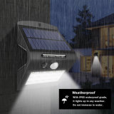4 lampe extérieure fonctionnante de garantie de mouvement de modes de détecteur de mur de la lampe 15 DEL de lumière solaire légère solaire de jardin
