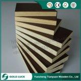 La madera contrachapada marina barato de 18m m Brown cubre 4X8 para el encofrado concreto