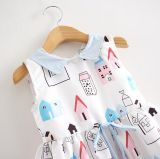 Summer Girl Stand Collar Dress in Kids Clothes