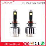 Faro delle lampadine del faro dell'automobile LED di vendita diretta 2s 9006 30W 2800lm LED della fabbrica con il prezzo competitivo