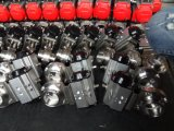 Válvula de borboleta sanitária pneumática com o atuador pneumático ativo do único dobro
