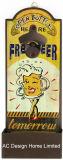 Старинная Vintage холодный напиток пользовательский дизайн формы металлических и деревянных табличка бумаги бутылок