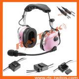 航空Anr概要の航空機のために取り消すピンクカラーヘッドセットの騒音