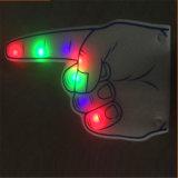 LED leuchten Schaumgummi-Fingern mit dem gedruckten Firmenzeichen