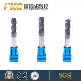 Cortador de trituração quadrado do carboneto áspero da flauta HRC45 4
