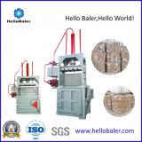 ペットリサイクルのための梱包機を押すHellobalerの携帯用垂直