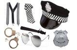 メンズ男の子の警官一定の警察官のデザインの凝った服党警察の帽子の衣裳キット