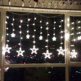La luz grande de la cortina de la estrella de la producción LED 12 al por mayor de la fábrica impermeabiliza los 2m con 138LEDs