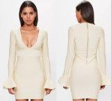Платье Bodycon повязки втулки пирофакела сливк влюбленности мира