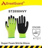 Желтый цвет Перчатк-Hi-Визави нитрила Sandy (ST2050HVY)