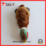 Juguete resistente cosido doble del animal doméstico de la felpa del rasgón
