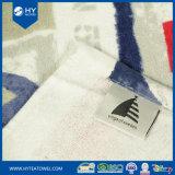 Напечатанное таможней полотенце пляжа хлопка