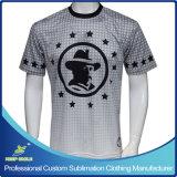 Camisa de tirada de manga curta Lacrosse Men's Sublimation personalizado