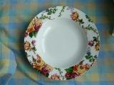 Porzellan-Suppe-Platte