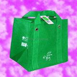 OEM die Groene het Winkelen van pvc van de Druk Zak naaien