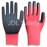 Одобренная CE перчатка работы покрытия латекса (LY3015)