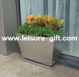 Interior em aço inoxidável-9049 Fo&Piscina Flower Pot