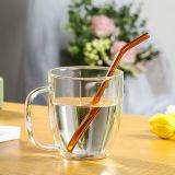 Het kleurrijke het Drinken van het Stro van het Glas Opnieuw te gebruiken Glas Borosilicate van het Stro