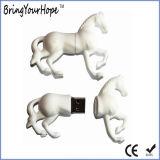Design 3D material PVC Horse forma uma unidade flash USB (XH-USB-140)
