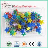 Venta caliente un surtido de herramientas de costura de colores colcha de Pins Estrella cabeza Patillas rectas de coser