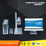 20W de miniMachine van de Gravure van het Metaal van de Code van Qr van de Laser van de Vezel voor de Markering van het Huisdier