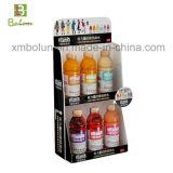Soporte de visualización acanalado de la bebida de la energía de la impresión en offset de los colores completos